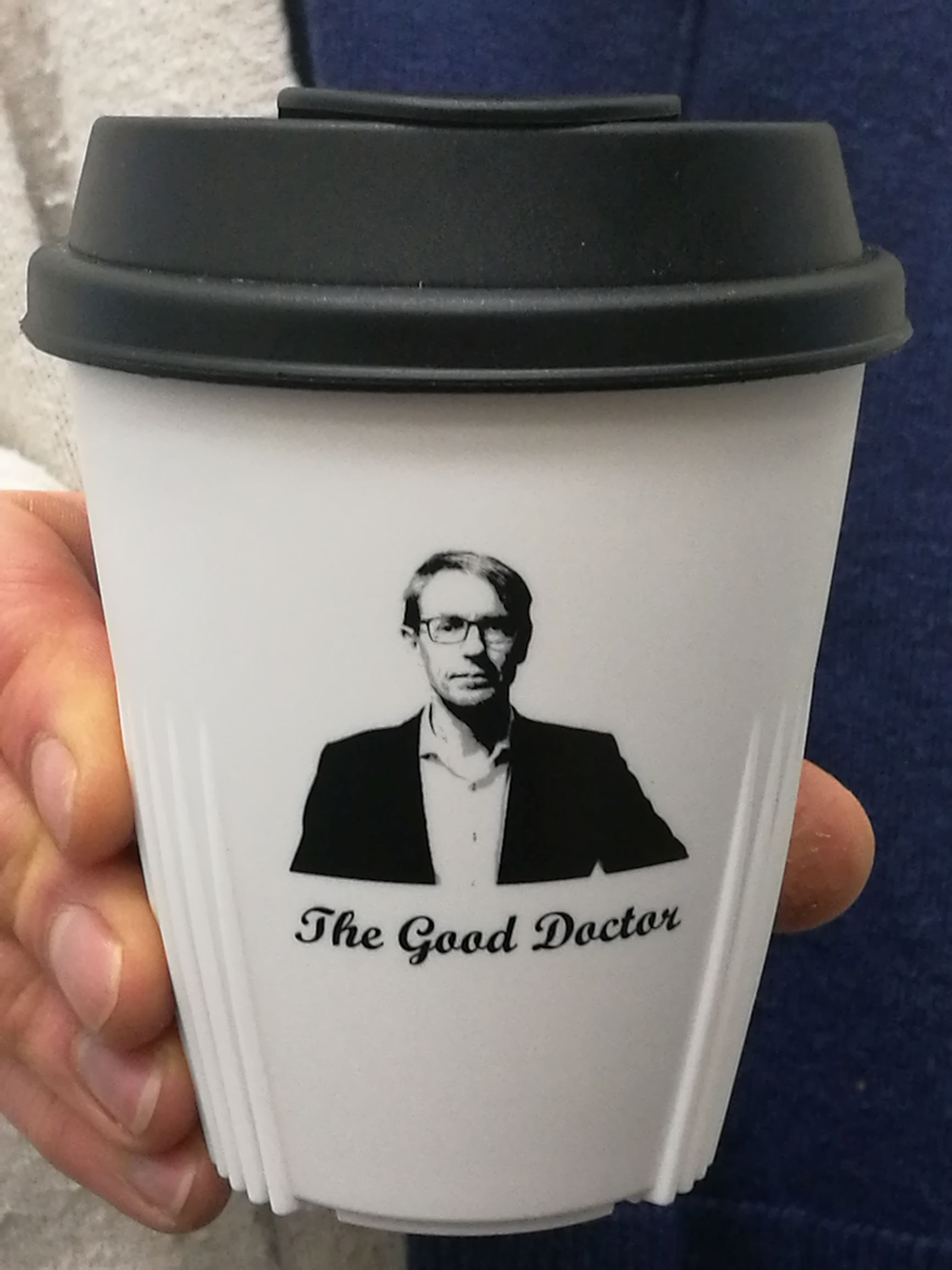 Dr Ashley Bloomfield Memorabilia Cup - White with Black Lid