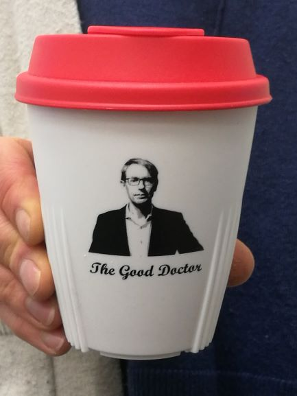 Dr Ashley Bloomfield Memorabilia Cup - White with Red Lid